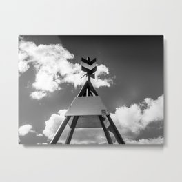 The Trig Station Metal Print