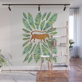 Jaguar – Green Leaves Wall Mural