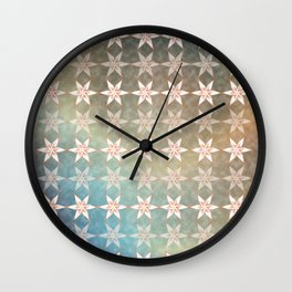 Snow Flakes #2 Wall Clock