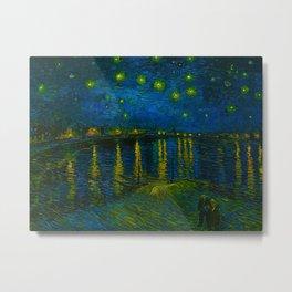 Starry Night Over the Rhône 1888 oil on canvas by Vincent van Gogh Metal Print