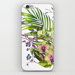 Bouquet, Orchid, Bud, Leaf Clipart, watercolor, handpainted, floral, flower, design, style, troical iPhone Skin