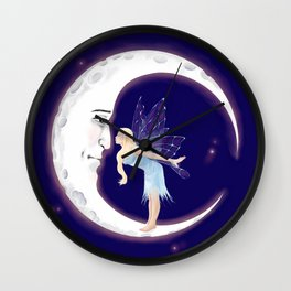 Fairy Moon Wall Clock