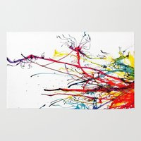 splatter Area & Throw Rugs featuring Splatter by Lucia C