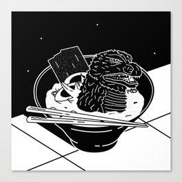 Godzilla Ramen Canvas Print