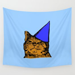 Party Cat (Blue Version) Wall Tapestry