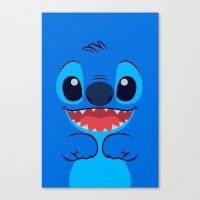 stitch Canvas Prints featuring Stitch by skyetaylorrr