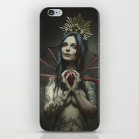 evil queen iPhone & iPod Skins featuring The Evil Queen by Christian Melfa