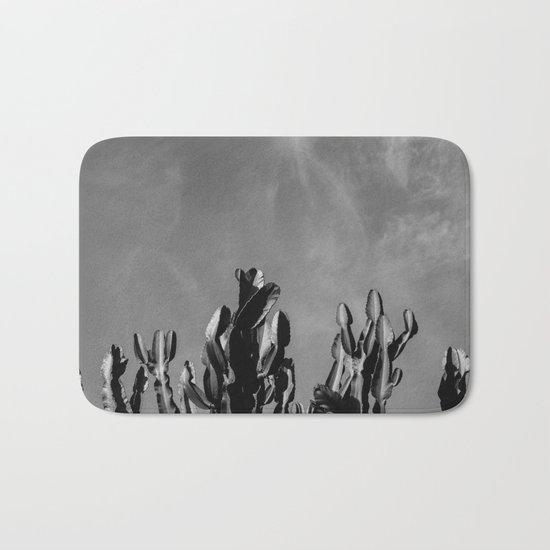 Monochrome Cactus Sky Bath Mat