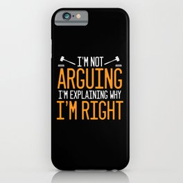 Lawyer Funny Advocate Attorney Law Right Court iPhone Case