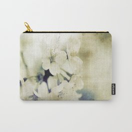 Yellow Green Vintage Cherry Flowers Carry-All Pouch