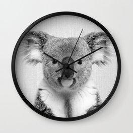 Koala 2 - Black & White Wall Clock