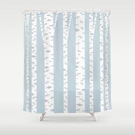 Minimalist Birch Trees by Amanda Laurel Atkins Shower Curtain