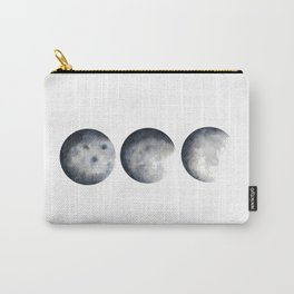 Phases of the Moon Watercolor Carry-All Pouch