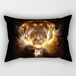 REIN FIRE DEER Rectangular Pillow