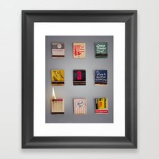 Play with matches Framed Art Print