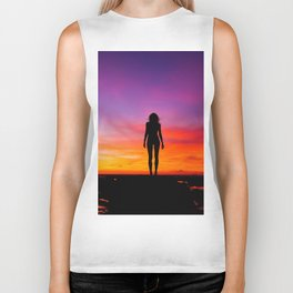 silhouette photography of a woman Biker Tank