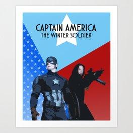 CapBucky fanmade graphic movie poster Art Print