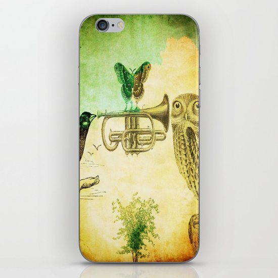 Music of birds iPhone & iPod Skin