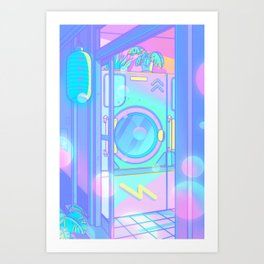 Laundry Night Art Print