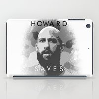tim shumate iPad Cases featuring Tim Howard Saves by Tim Stahl