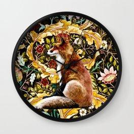 The Fox King Poster Version Wall Clock