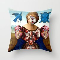 madonna Throw Pillows featuring Madonna by DIVIDUS