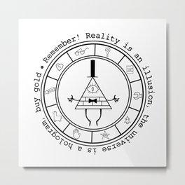Bill Cipher - Light Metal Print