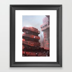 Red crawler Framed Art Print