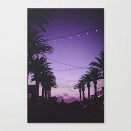 Tropical Summer Night Canvas Print