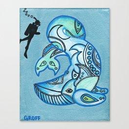 Whale Watchin' Canvas Print