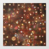 constellation Canvas Prints featuring constellation by davina pallone