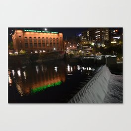 Mooned Abysses of Night Canvas Print