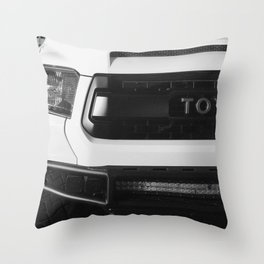 """""""TOY"""" Tundra // Black and White Monster Truck Geared Out Big Wheels Matte Black Grille Throw Pillow"""