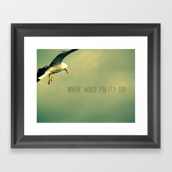 Where would you fly to? - Seagull Framed Art Print