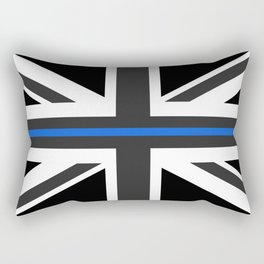 Thin Blue Line UK Flag Rectangular Pillow