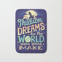 A Million Dreams Bath Mat