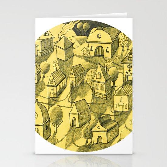 Moonlit Village Stationery Cards