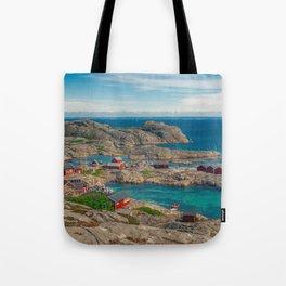 Sleepy Coastal Village Photo Tote Bag