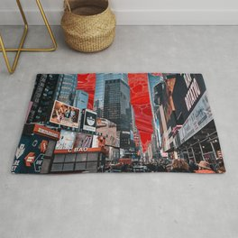 times square sunset  Rug