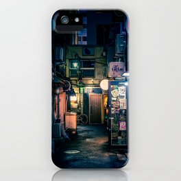 Empty Golden Gai at night iPhone Case