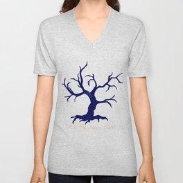 Tree of Life Dark Blue Unisex V-Neck