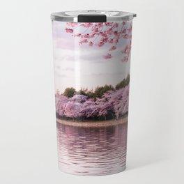 Cherry Blossom River Travel Mug