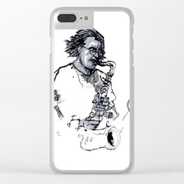 russ gershon of the either orchestra Clear iPhone Case