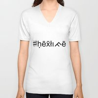 occult V-neck T-shirts featuring #hexlife - Occult Font by #hexlife