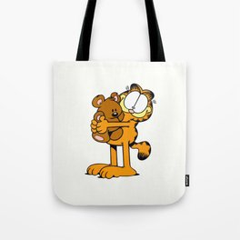 Garfield with toy Tote Bag