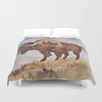 buffalo Duvet Covers featuring Buffalo by TheWildPlum
