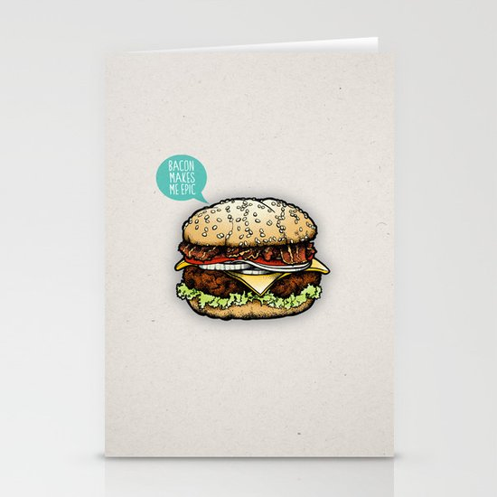 Epic Burger Stationery Cards