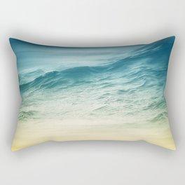 Sunset Waves Rectangular Pillow