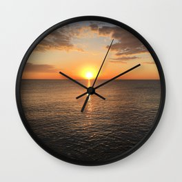 Early Morning by the Lake 2 Wall Clock