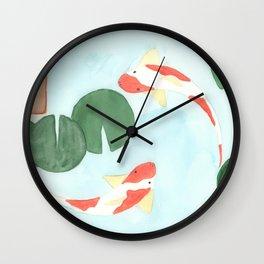 The Koi Pond Wall Clock